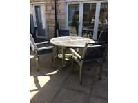 Solid Teak Outdoor Dinning Table and Chairs