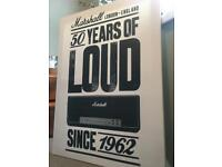 Marshall Amplification Advert on Canvas