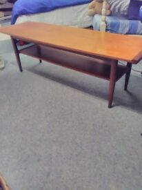 vintage sleigh style coffee table by Myers