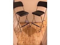2 x black bar stools from Ikea *almost new!*