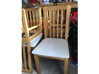 Wooden Dining Chairs x 4 For Sale