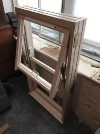 White Casement Window, Timber Frame (brand new). 70cm x 125cm