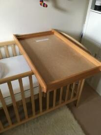 John Lewis cot top changing table