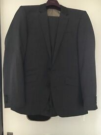 Men's Grey Wool Rich Suit