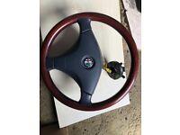 Alfa Romeo 155 walnut steering wheel