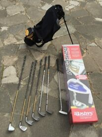 Junior LEFT HANDED golf set and trolley for age 12-14. Open to offers.