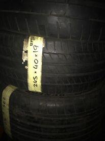 245/40/19 Michelin RUNFLAT tyre great tread