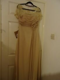 LOVELY COFFEE COLOURED VINTAGE DRESS , BUT BRAND NEW