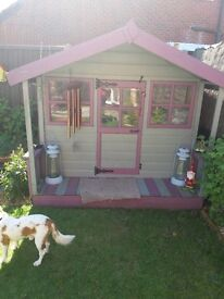 Solid wood childrens playhouse, like new, no leaks