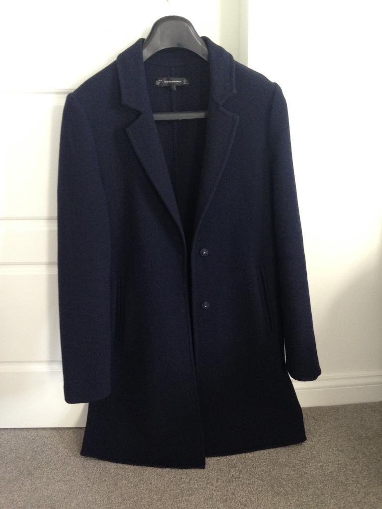Zara Navy Blue Coat Size S