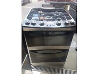 NEW/Ex-Display Zanussi GAS Cooker - Black & Silver