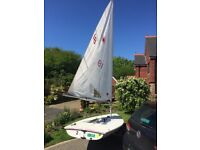 Laser sailing dinghy 189180, good condition, race rigged