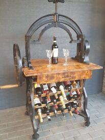 Antique Wine Racks, Victorian Mangle Wine Rack & Table.