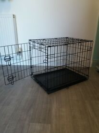 Dog crate excellent condition. For a small to medium size dog. 43cms x 48cms x 60 cms. Used twice.