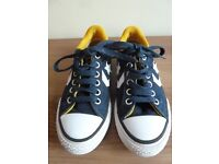 Childrens kids Converse All Star Navy Shoes Size 11½ , As new condition