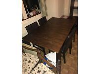 Large dark wooden extendable dining table - perfect for christmas entertaining