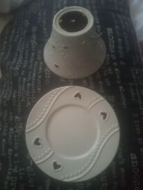 Yankee candle shade & tray set good condition