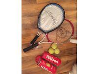 Tennis racquet set