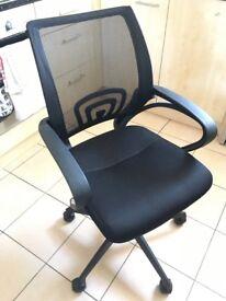 Black office chair.