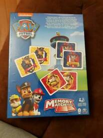 Brand new paw patrol memory game
