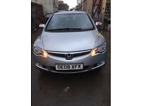 honda Civic Hybrid 2008 saloon 5 dr Silver Automatic