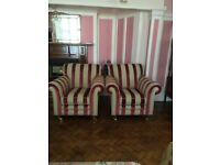 GREATLY REDUCED TODAY IN PRICE MATCHING PAIR OF Armchairs,