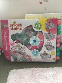 Bright Starts 5 in 1 Activity Play Mat, Gym and Ball play