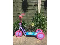 My little pony scooter and pink bike first size £12 for both