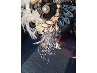 BEAUTIFUL HANDMADE TAUPE BRIDAL WEDDING BOUQUET
