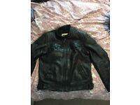 Leather Motorbike Jacket (Triumph)