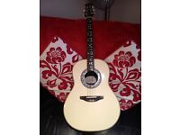 Ovation (USA made) 1712 Custom Balladeer electro/acoustic guitar.