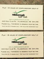 2 tickets for 18 holes of golf at the Hillsborough Golf Club