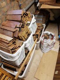 Reclaimed hardwood parquet flooring blocks approx 15m2