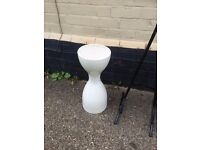 large cream floor standing vase