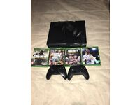 Xbox One *Great Condition* (2 controllers, charging dock, 4 new games)