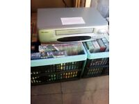 Brand New Bush Video Recorder,Remote Control & Two Crates Of Various Video's