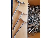 Large quantity of slatwall hooks, shop display, All sizes and many other slat wall fittings also.
