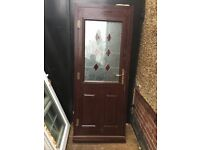 **ANOTHER ROSEWOOD UPVC DOUBLE GLAZED DOOR**COMPLETE WITH FRAME AND KEY**NO OFFERS**GOOD CONDITION**