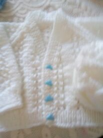 Knitted Cardigan and Hat