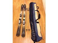 Ladies K2 skis, poles and ski bag