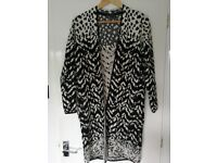 Marks and Spencer size 8 long Cardigan black and white