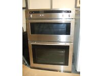 Neff built in double oven with grill. and Neff ceramic hob.