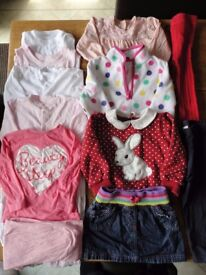 18 Mths-2 Yrs Girls Autumn/Winter Clothes Bundle (11 items) Set B