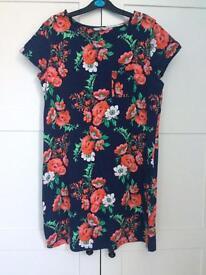 Tu Navy Floral Dress. Size 12