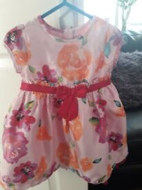Beautiful pink dress and natching cardi 6-9months