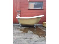 BATH FOR SALE, STAND ALONE TYPE WITH SHOWERHEAD ETC