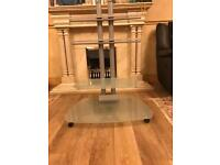 TV STAND HARD GLASS USED