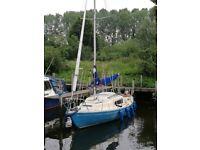 Corribee 21 ft sailing boat