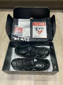 LAKE CX403 Men's Road Cycling Shoe, Black/Silver, Size 42 (Only worn twice, bought in July 2020)