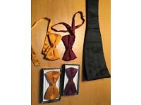 Silk Bow ties and cummerbund